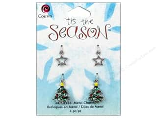 Cousin Charm Tis The Season Metal Tree/Star 4pc