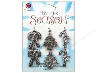 Cousin Charm Tis The Season Met Tree/CandyCane 6pc