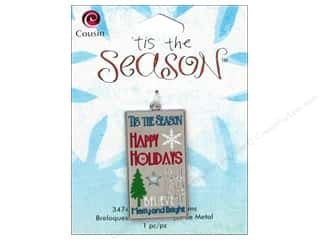 2013 Crafties - Best Adhesive: Cousin Charm Tis The Season Metal Christmas Tag 1pc