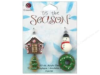 Cousin Charm Tis The Season Acrylic Multi 4pc