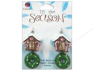 Cousin Charm Tis The Season Acrylic House/Donut 4pc