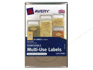2013 Crafties - Best Adhesive: Avery Removable Multi-Use Labels 24 pc. Kraft Brown