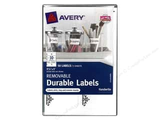 Labels: Avery Removable Durable Labels 50 pc. Cottage Design