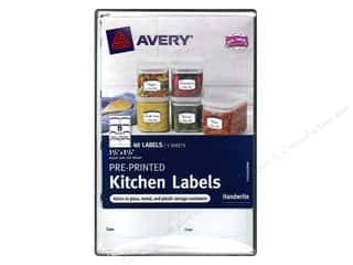 Labels: Avery Pre-Printed Kitchen Labels 40 pc. Blue
