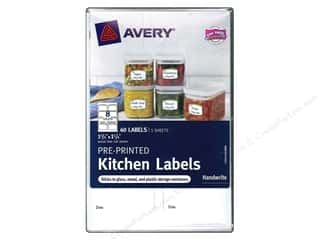 Office Avery Labels: Avery Pre-Printed Kitchen Labels 40 pc. Green