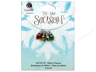 Cousin Charm Tis The Season Metal Enamel Bulb 4pc