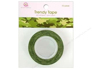 Queen&Co Trendy Tape 10yd Camouflage Green