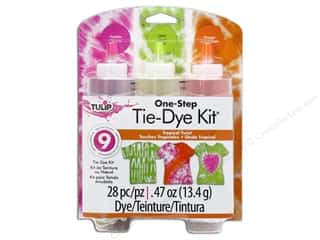 Tulip Dyes: Tulip Dye Kits One Step Tie 3 Color Tropical Twist