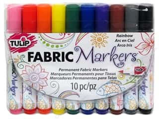 Weekly Specials Tulip Body Art: Tulip Fabric Marker Set Brush Tip Rainbow 10pc