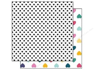 Glitz Design Paper 12x12 Wild & Free Small Hearts (25 piece)