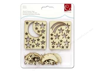Cosmo Cricket Embellishment Wood Charm Stars