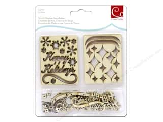 Cosmo Cricket Wood Charm Snowflakes