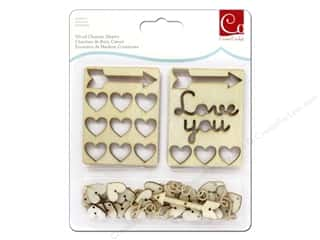 Cosmo Cricket Wood Charm Hearts