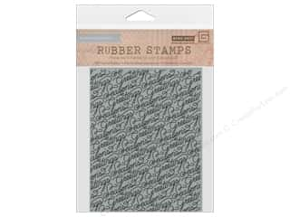 Rubber Stamping Clearance Crafts: BasicGrey Rubber Stamp 25th & Pine Script Greetings