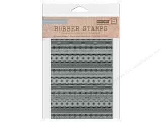 Rubber Stamping: BasicGrey Rubber Stamp 25th & Pine Border Snowflake