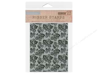 Clearance Blumenthal Favorite Findings: BasicGrey Rubber Stamp Etched Bouquet