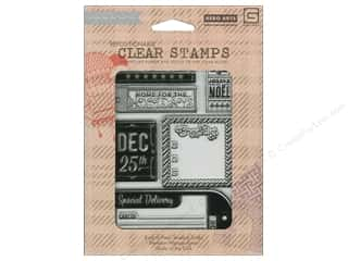 Clearance Plaid Stamps Clear: BasicGrey Clear Stamps 6 pc. 25th & Pine Clear Dec 25th