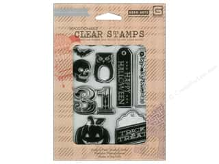 Clearance Blumenthal Favorite Findings: BasicGrey Clear Stamps 8 pc. Halloween 31