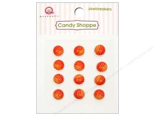 Queen&Co Sticker Candy Jawbreakers Rnd Orange