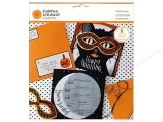 Note Cards Halloween: Martha Stewart Kit Invitation Animal Masquerade