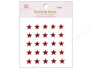 Stars paper dimensions: Queen&Co Sticker Twinkle Stars Red