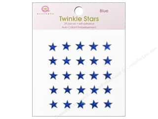 Stars paper dimensions: Queen&Co Sticker Twinkle Stars Blue
