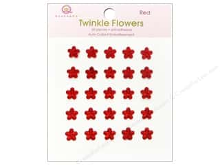 Queen & Company Papers: Queen&Co Sticker Twinkle Flowers Red