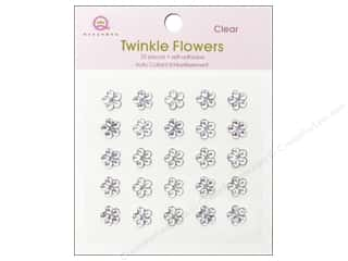 Rhinestones Flowers: Queen&Co Sticker Twinkle Flowers Clear