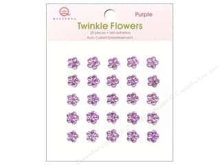 Rhinestones paper dimensions: Queen&Co Sticker Twinkle Flowers Purple
