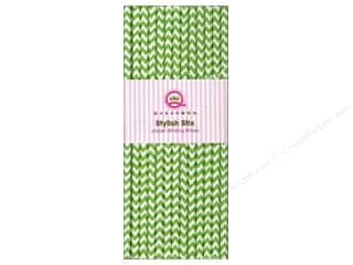 Queen&Co Stylish Stix Chevron Holiday Green 25pc