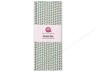 Queen & Company Baking Supplies: Queen&Co Stylish Stix Chevron Grey 25pc