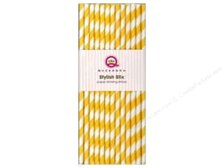 Queen & Company Baking Supplies: Queen&Co Stylish Stix Stripe Yellow 25pc