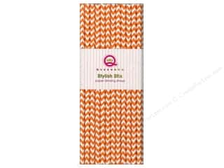 Queen & Company Baking Supplies: Queen&Co Stylish Stix Chevron Orange 25pc
