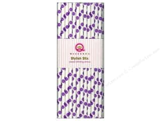 Queen&Co Stylish Stix Polka Purple 25pc