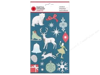 Martha Stewart Crafts Winter Wonderland: Martha Stewart Sticker Frosty Elegance Glitter Icon