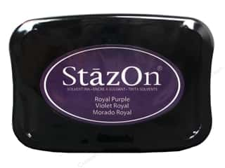 Stamping Ink Pads Blue: Tsukineko StazOn Large Solvent Ink Stamp Pad Royal Purple