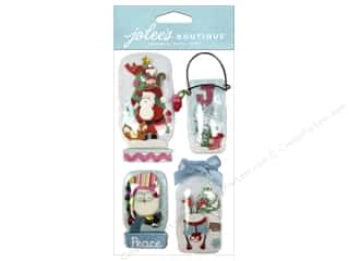 EK Jolee's Boutique Holiday Snowglobe Jars
