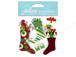 Felting Burgundy: Jolee's Boutique Stickers Stuffed Stockings