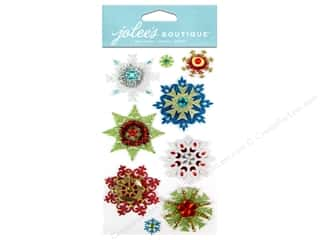 Craft Embellishments Winter: Jolee's Boutique Stickers Embellished Snowflakes