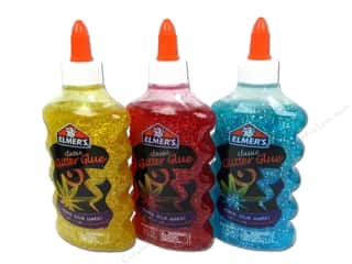 glitter glue: Elmer's Glitter Glue Assorted Red/Yellow/Blue 6oz (3 bottles)