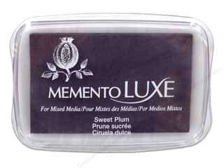 Stamping Ink Pads Fabric Painting & Dying: Tsukineko Memento Luxe Ink Pad Large Sweet Plum