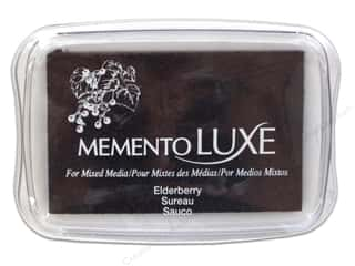 Stamping Ink Pads Fabric Painting & Dying: Tsukineko Memento Luxe Ink Pad Large Elderberry