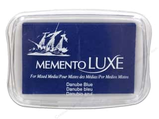Rubber Stamping Inks: Tsukineko Memento Luxe Ink Pad Large Danube Blue