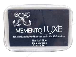 Stamping Ink Pads Fabric Painting & Dying: Tsukineko Memento Luxe Ink Pad Large Nautical Blue