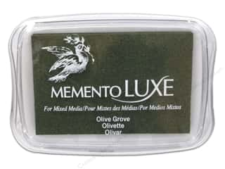 Rubber Stamping Stamping Ink Pads: Tsukineko Memento Luxe Ink Pad Large Olive Grove