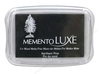 Stamping Ink Pads Fabric Painting & Dying: Tsukineko Memento Luxe Ink Pad Large Northern Pine