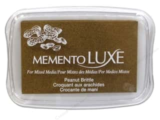 Rubber Stamping Brown: Tsukineko Memento Luxe Ink Pad Large Peanut Brittle