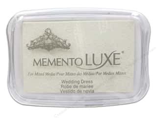 Stamping Ink Pads Ink, Ink Pads & Brayers: Tsukineko Memento Luxe Ink Pad Large Wedding Dress