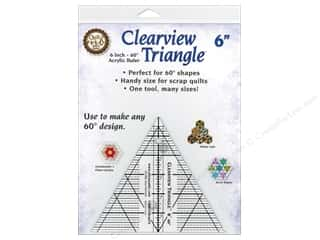 Clearview Triangle Rulers 6 in. 60 Degree Ruler
