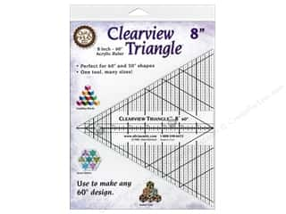 Clearview Triangle Rulers 8 in. 60 Degree Ruler